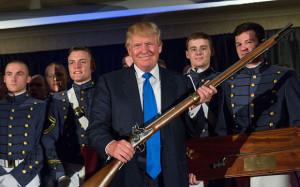Trump-and-gun-and-cadets